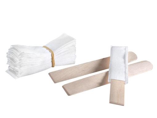 Reinigungs-Vliesstrumpf mit Holzspatel